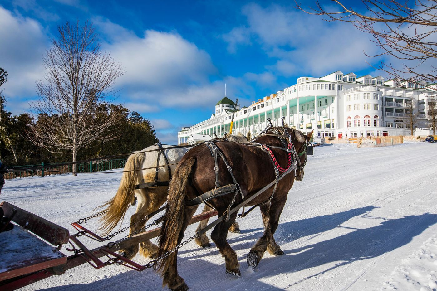 Behind the scenes at Mackinac Island's Grand Hotel in winter
