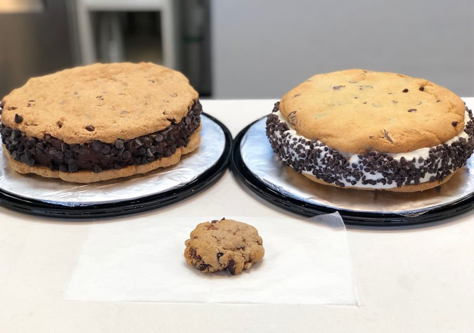 Mammoth ice cream cookie sandwiches at Ferndale's Treat Dreams