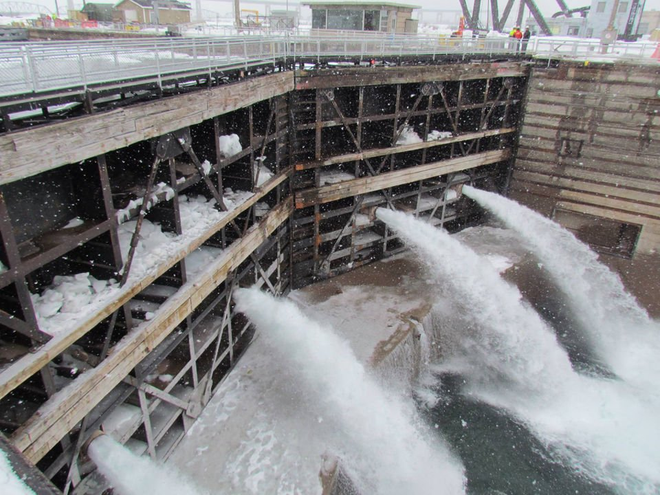 See Soo Locks refilled with 73M gallons of water