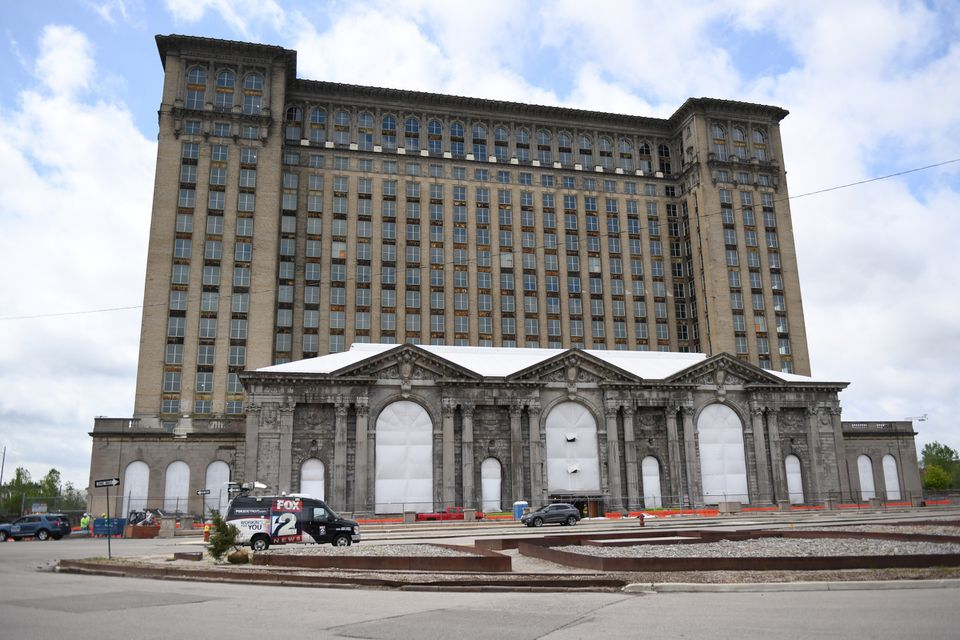 Historic train station being transformation into Ford's Detroit campus