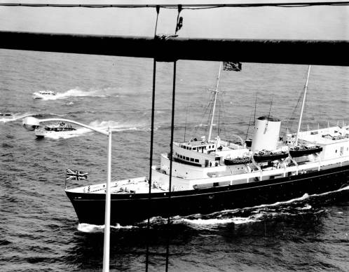 Queen Elizabeth, royal yacht 'Britannia' passed under Mackinac Bridge 60 years ago