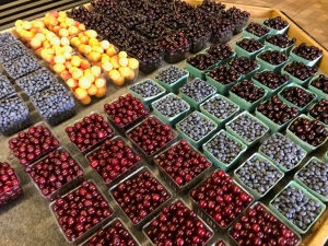 Berries at a farm stand