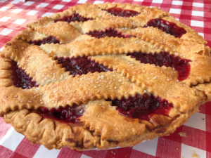 A cherry raspberry pie! Yum