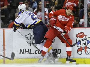 Stanley Cup champion Alex Pietrangelo (left) has tussled with the Detroit Red Wings for years, going all the way back to the 2010 NHL Prospect Tournament in Traverse City.