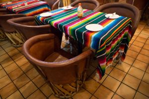 Authentic Equipales at Maya Mexican Grill