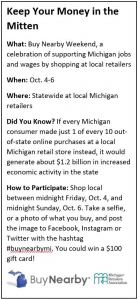 Keep your money in the mitten info box