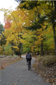 fall cycling in ludington, mi