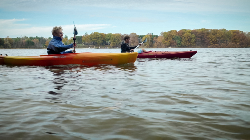 fall kayaking ludington, mi