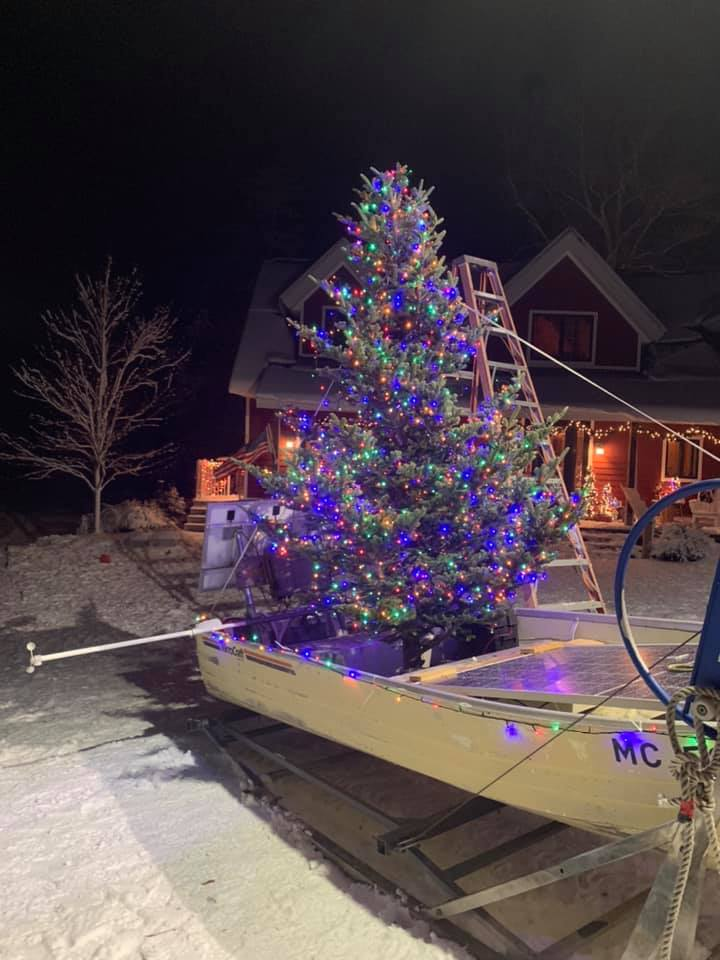 Northern Michigan's favorite floating Christmas Tree is back
