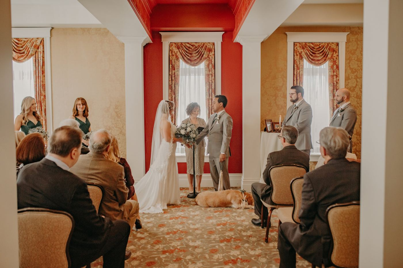 Jenna+Daemian exchange vows