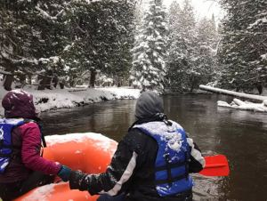 winter rafting in Gaylord, MI