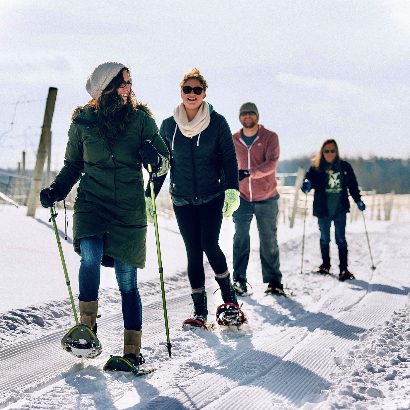 Snowshoe through Northern Michigan vineyards on these winter adventures