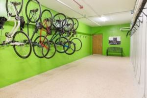 bike room at the Grand Castle