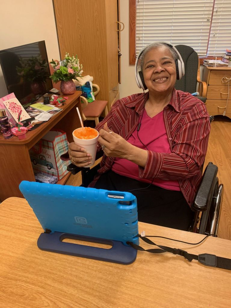 Residents were treated to ice cream floats in all flavors at MediLodge of Wyoming, where staff also went room to room tie-dying shirts in colors requested by each resident. 'You can't imagine how happy floats make people!' said Charise Whaley, director of admissions.