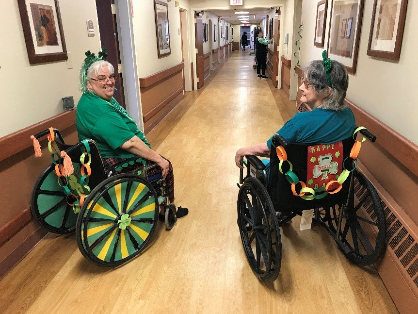 A wheelchair decorating contest is one of several activities keeping residents at MediLodge of Clare happy and safe in an era of social distancing. Residents there also have fished for rubber duckies, tried their aim in a hallway Nerf gun shooting contest and exchanged long-distance hugs.