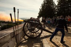 Cannon at Fort Mackinac
