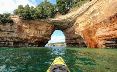 Munising kayaking