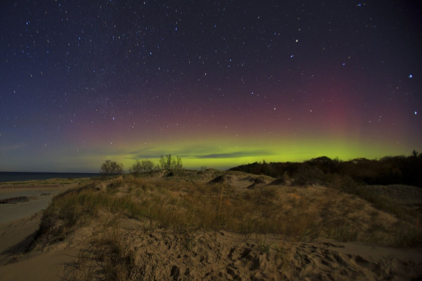 Northern lights seen in Ludington, MI