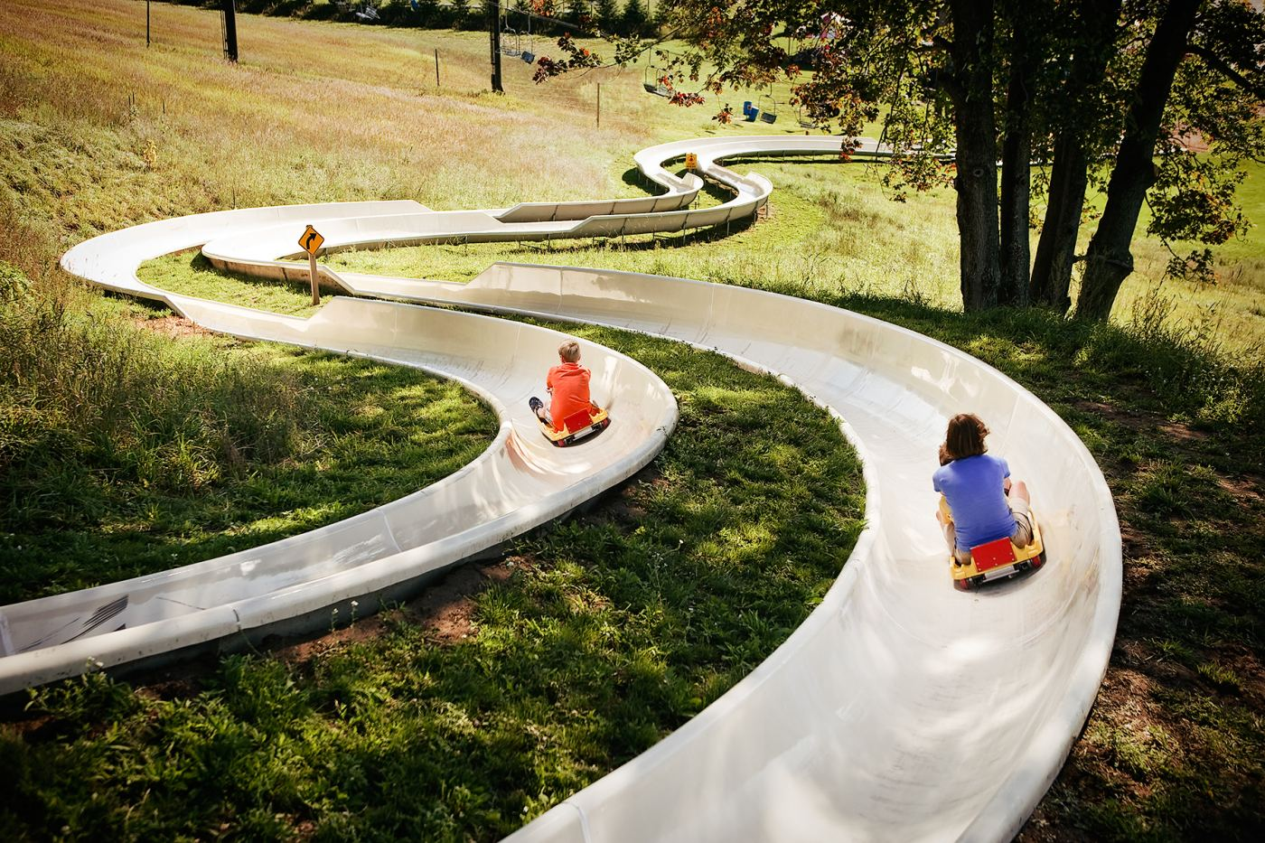 Michigan's only Alpine slide at Crystal Mountain resort