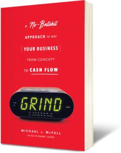front cover of Mike McFall's book 'Grind'