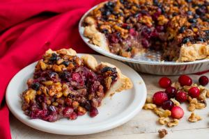 Cranberry walnut pie from Crust, a baking company