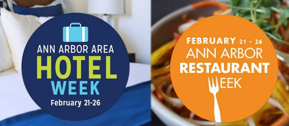 Ann Arbor hotel and restaurant weeks graphic