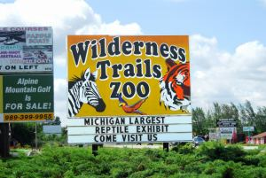 Wilderness Trails Zoo sign